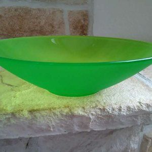 Frosted Lime Green Decorative Bowl/Dish